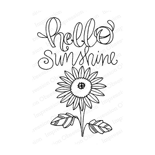 Impression Obsession Cling Stamp HELLO SUNSHINE F12371 Preview Image