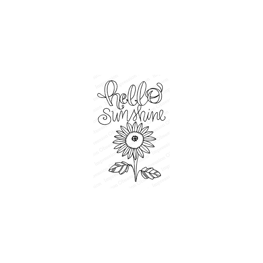Impression Obsession Cling Stamp HELLO SUNSHINE F12371 zoom image