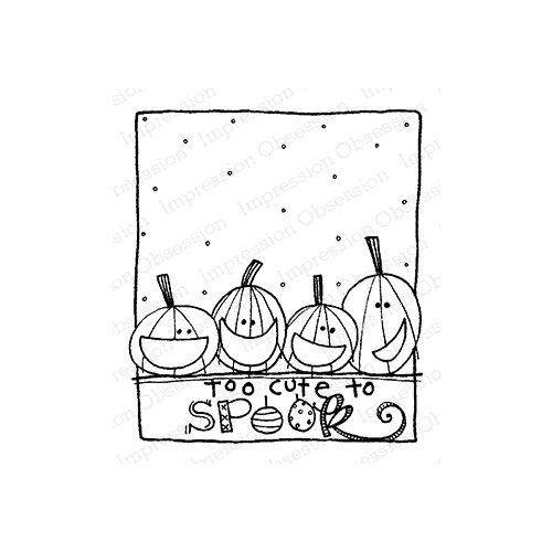 Impression Obsession Cling Stamp CUTE TO SPOOK F12367 Preview Image