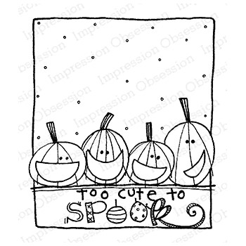 Impression Obsession Cling Stamp CUTE TO SPOOK F12367