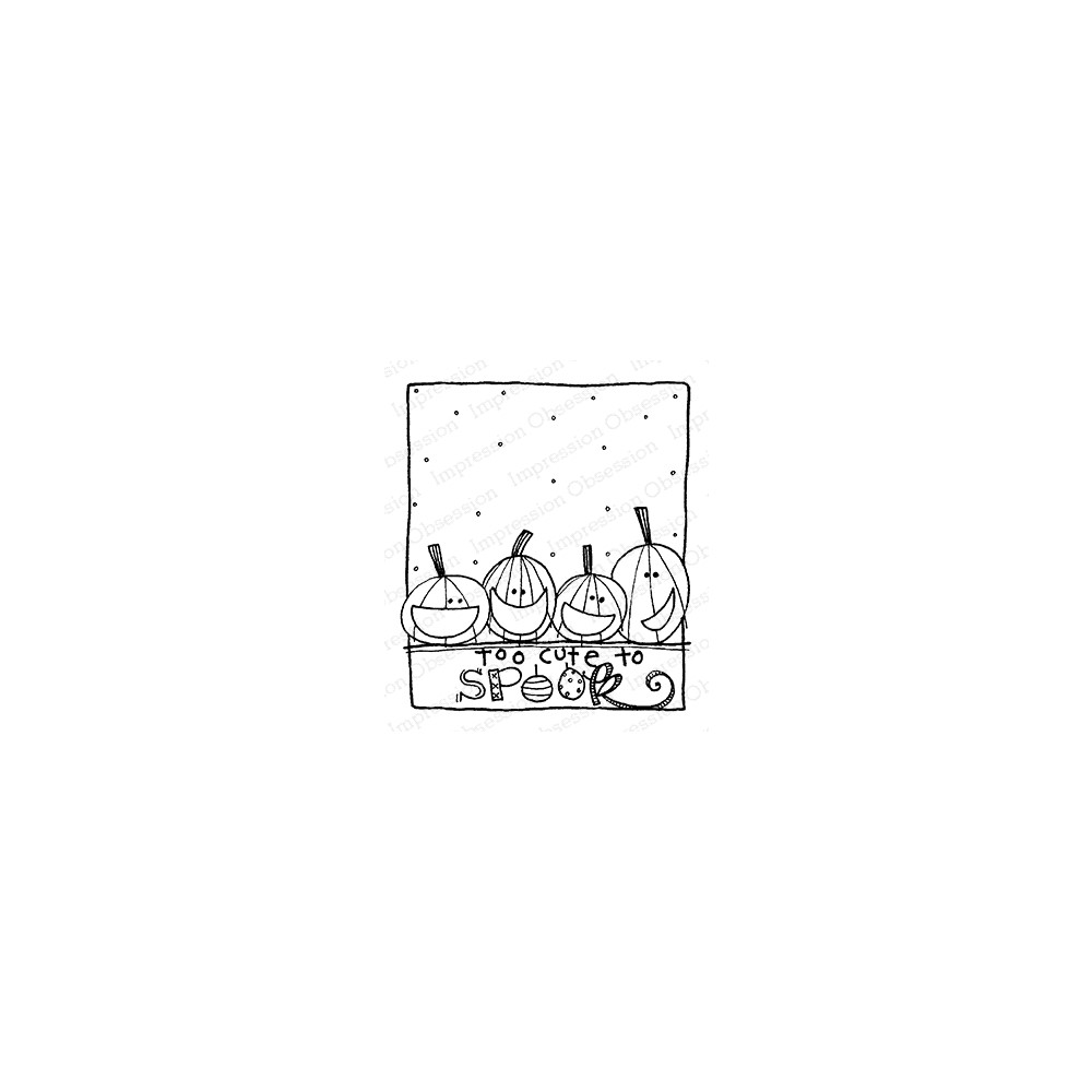 Impression Obsession Cling Stamp CUTE TO SPOOK F12367 zoom image