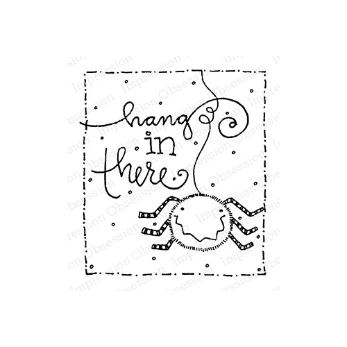 Impression Obsession Cling Stamp HANG IN THERE F12365 Preview Image