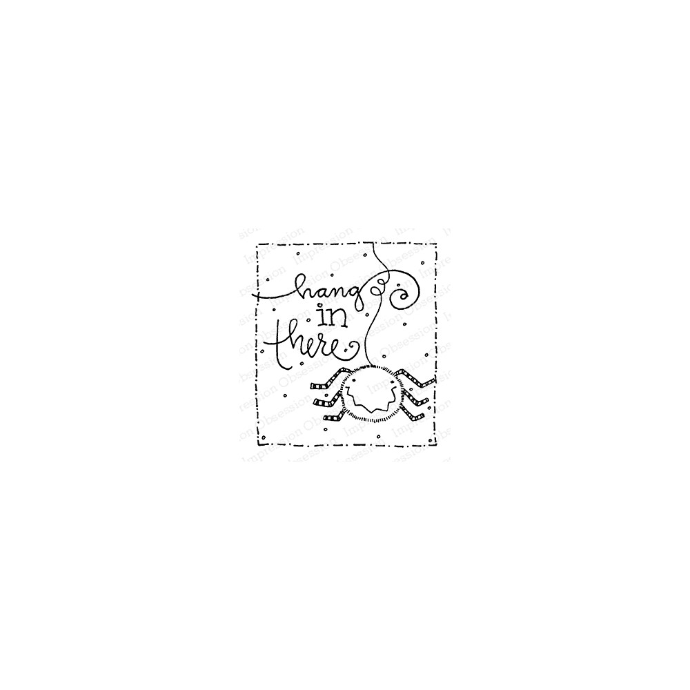 Impression Obsession Cling Stamp HANG IN THERE F12365 zoom image