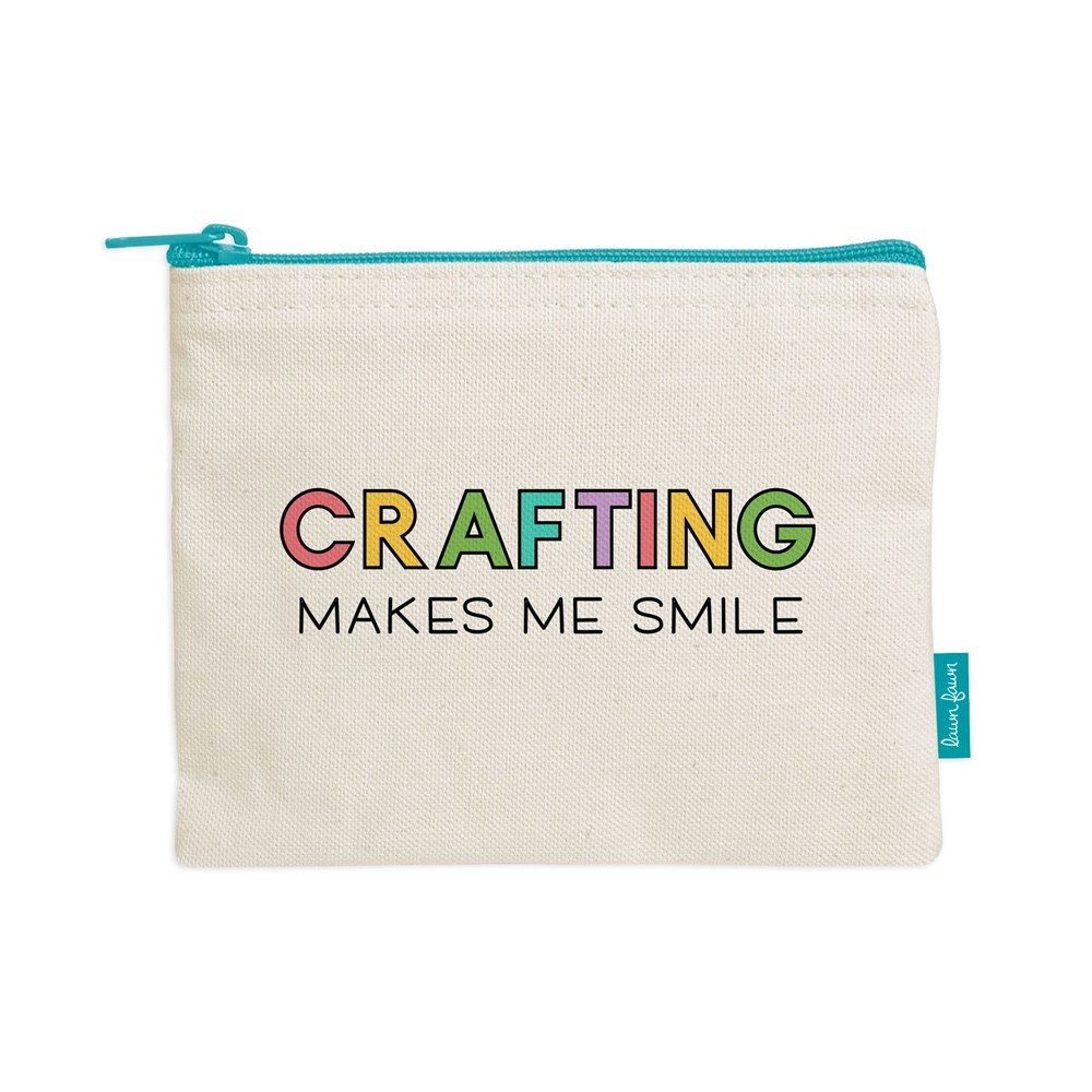 Lawn Fawn CRAFTING MAKES ME SMILE Zipper Pouch lf2719 zoom image