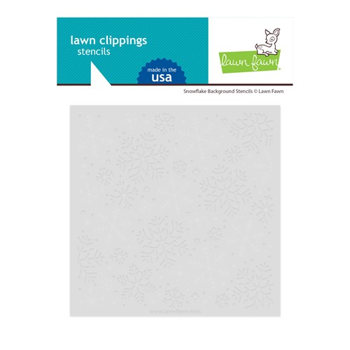 Lawn Fawn SNOWFLAKE BACKGROUND Stencils lf2710 Preview Image