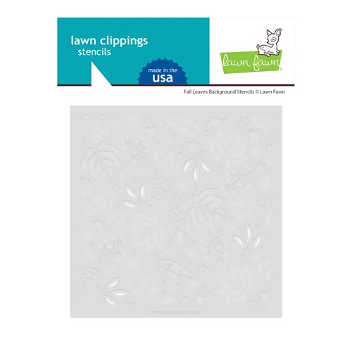 Lawn Fawn FALL LEAVES BACKGROUND Stencils lf2709 Preview Image