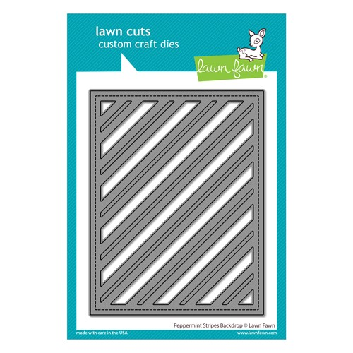 Lawn Fawn PEPPERMINT STRIPES BACKDROP Die Cut lf2705 Preview Image