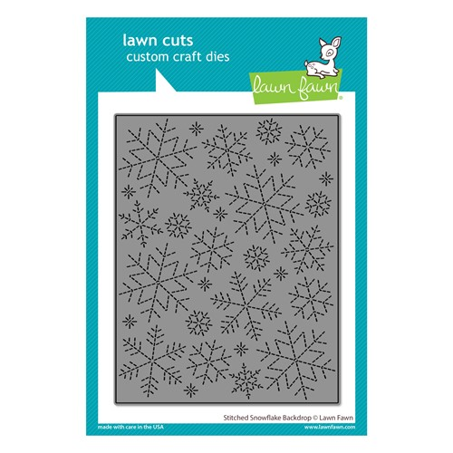 Lawn Fawn STITCHED SNOWFLAKE BACKDROP Die Cut lf2704 Preview Image