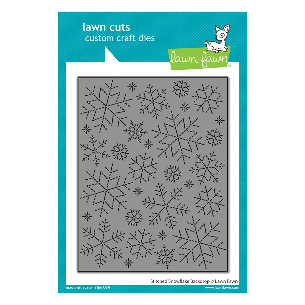 Lawn Fawn STITCHED SNOWFLAKE BACKDROP Die Cut lf2704 zoom image