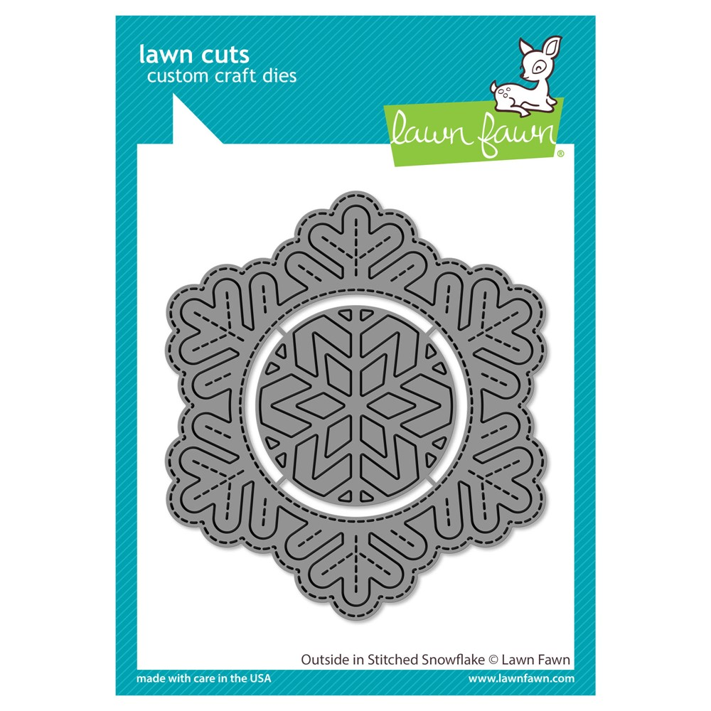 Lawn Fawn OUTSIDE IN STITCHED SNOWFLAKE Die Cuts lf2702 zoom image