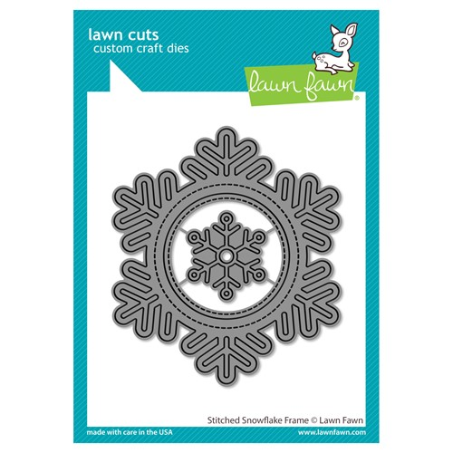 Lawn Fawn STITCHED SNOWFLAKE FRAME Die Cuts lf2701 Preview Image