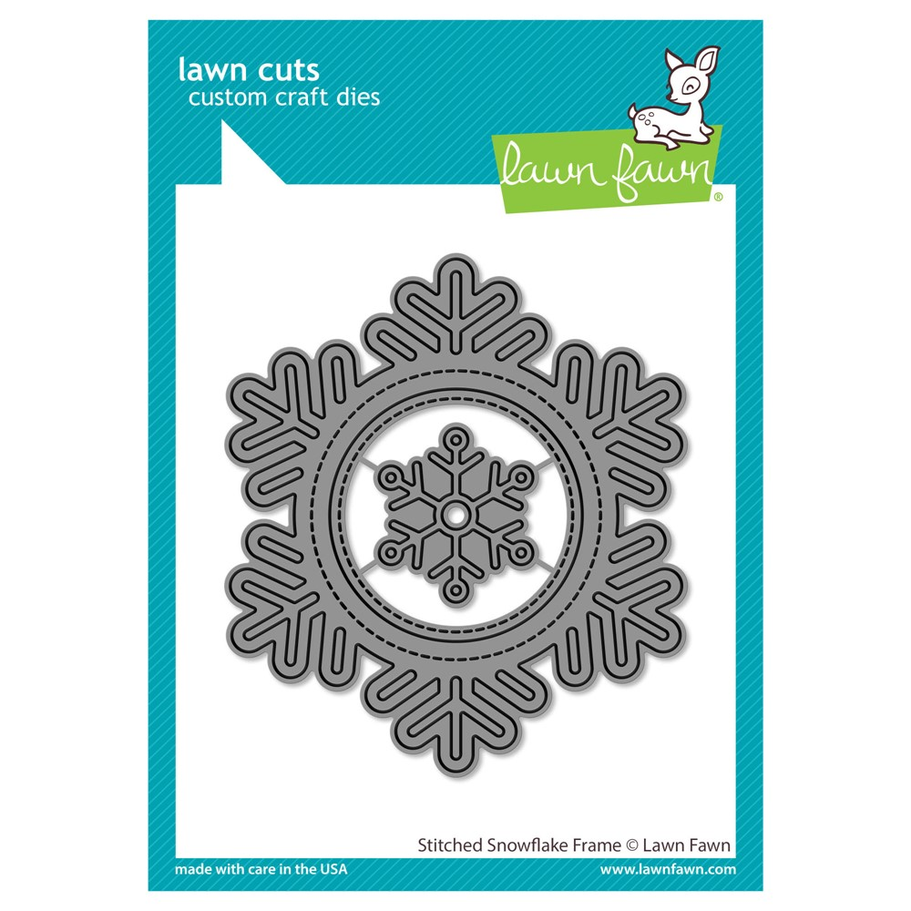 Lawn Fawn STITCHED SNOWFLAKE FRAME Die Cuts lf2701 zoom image