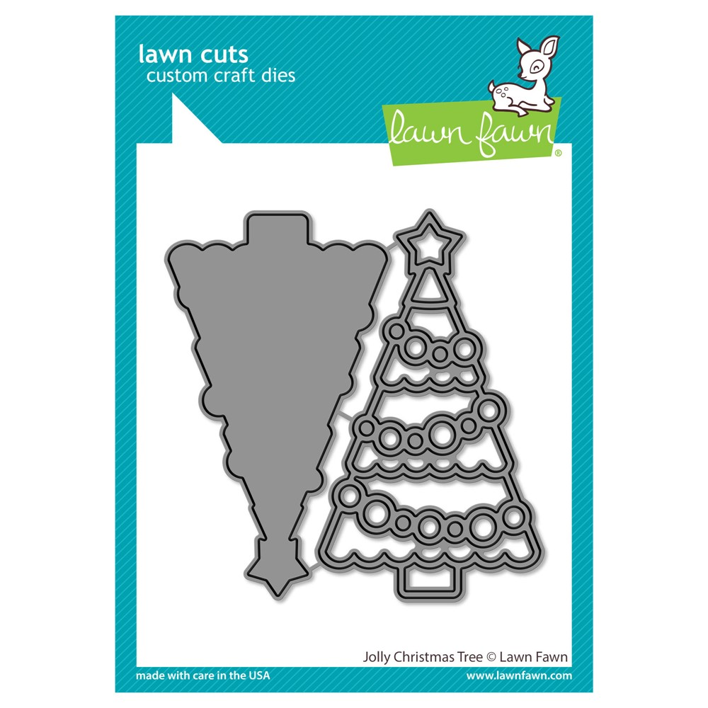 Lawn Fawn JOLLY CHRISTMAS TREE Die Cuts lf2700 zoom image