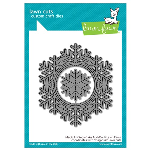 Lawn Fawn MAGIC IRIS SNOWFLAKE ADD-ON Die Cuts lf2697 Preview Image