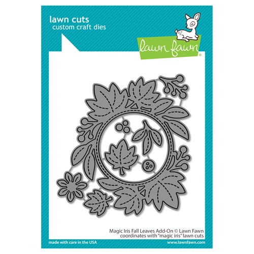 RESERVE Lawn Fawn MAGIC IRIS FALL LEAVES ADD-ON Die Cuts lf2696 Preview Image