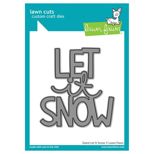 Lawn Fawn GIANT LET IT SNOW Die Cut lf2695 Preview Image