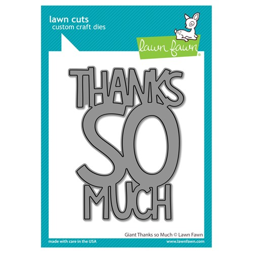Lawn Fawn GIANT THANKS SO MUCH Die Cut lf2693 Preview Image