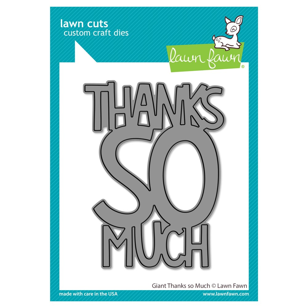 Lawn Fawn GIANT THANKS SO MUCH Die Cut lf2693 zoom image