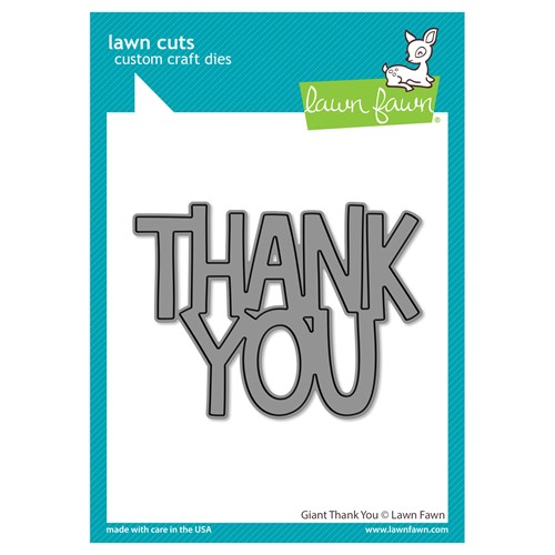 Lawn Fawn GIANT THANK YOU Die Cut lf2692 Preview Image