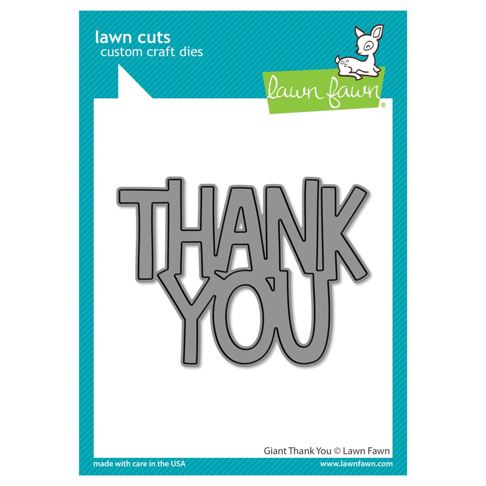 Lawn Fawn GIANT THANK YOU Die Cut lf2692 zoom image