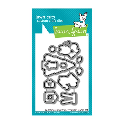 Lawn Fawn MERRY MICE Die Cuts lf2685 Preview Image
