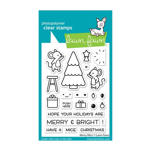 Lawn Fawn MERRY MICE Clear Stamps lf2684 Preview Image