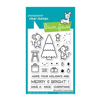 Lawn Fawn MERRY MICE Clear Stamps lf2684