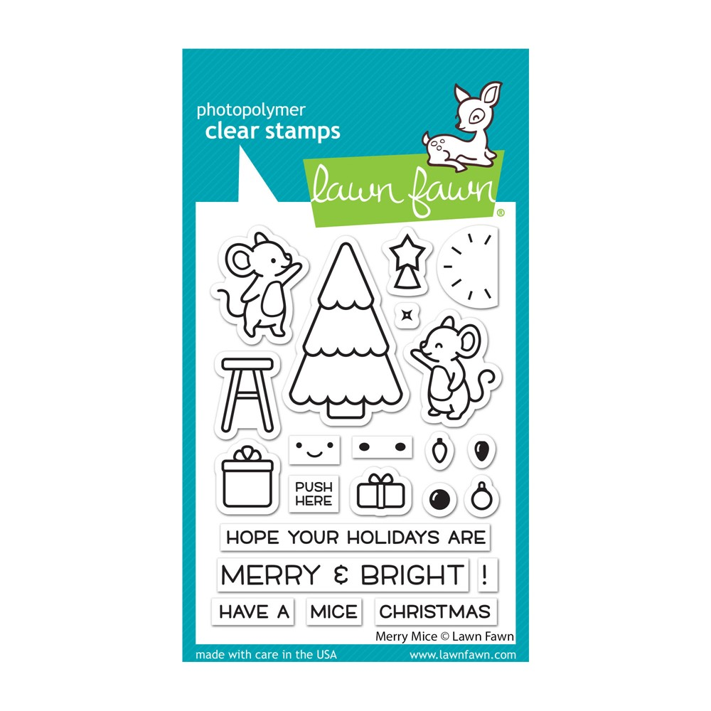 Lawn Fawn MERRY MICE Clear Stamps lf2684 zoom image