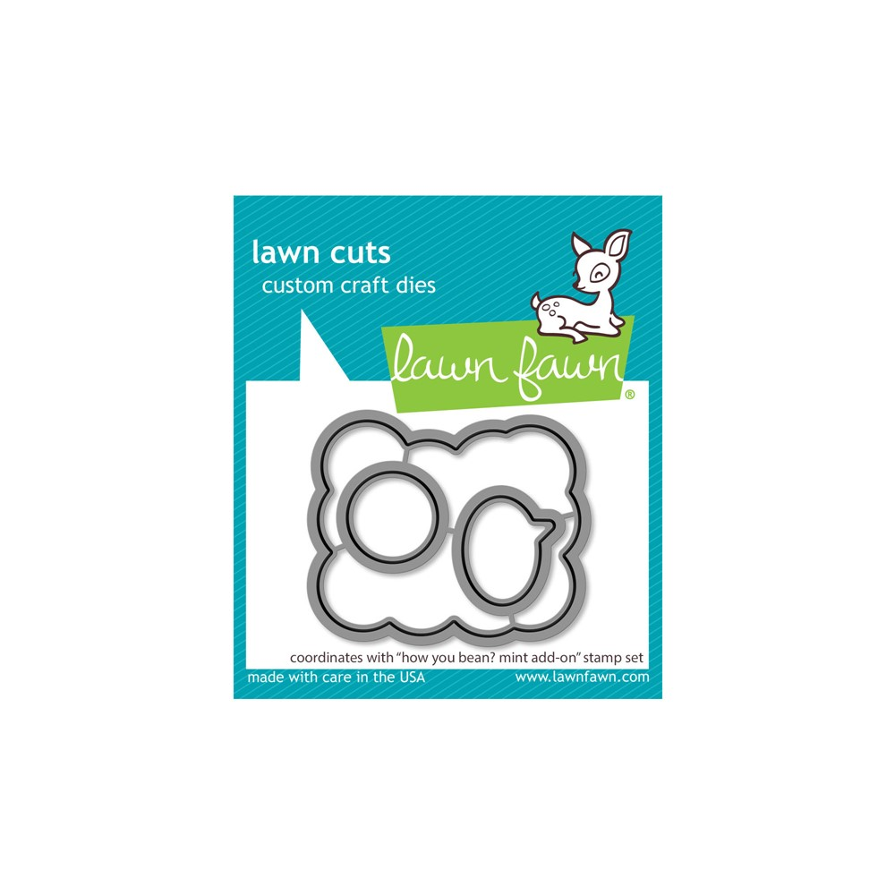Lawn Fawn HOW YOU BEAN? MINT ADD-ON Die Cuts lf2683 zoom image