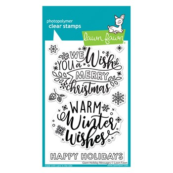 Lawn Fawn GIANT HOLIDAY MESSAGES Clear Stamps lf2680