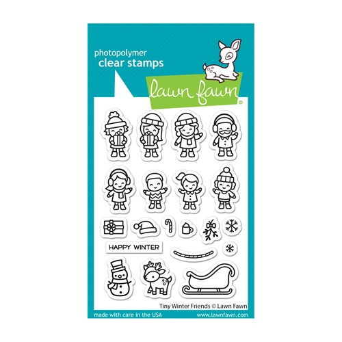 Lawn Fawn TINY WINTER FRIENDS Clear Stamps lf2678 Preview Image