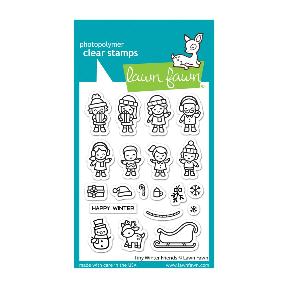 Lawn Fawn TINY WINTER FRIENDS Clear Stamps lf2678 zoom image