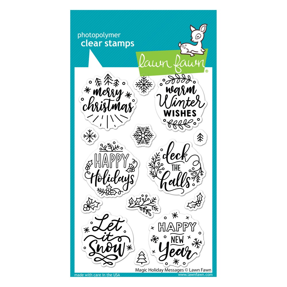 Lawn Fawn MAGIC HOLIDAY MESSAGES Clear Stamps lf2676 zoom image