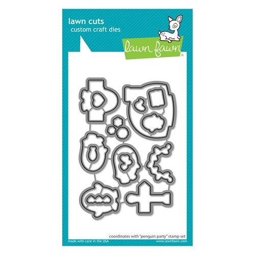 Lawn Fawn PENGUIN PARTY Die Cuts lf2675 Preview Image