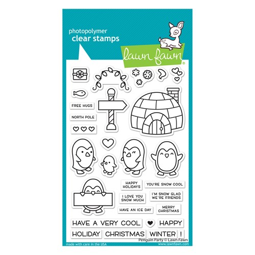 Lawn Fawn PENGUIN PARTY Clear Stamps lf2674 Preview Image