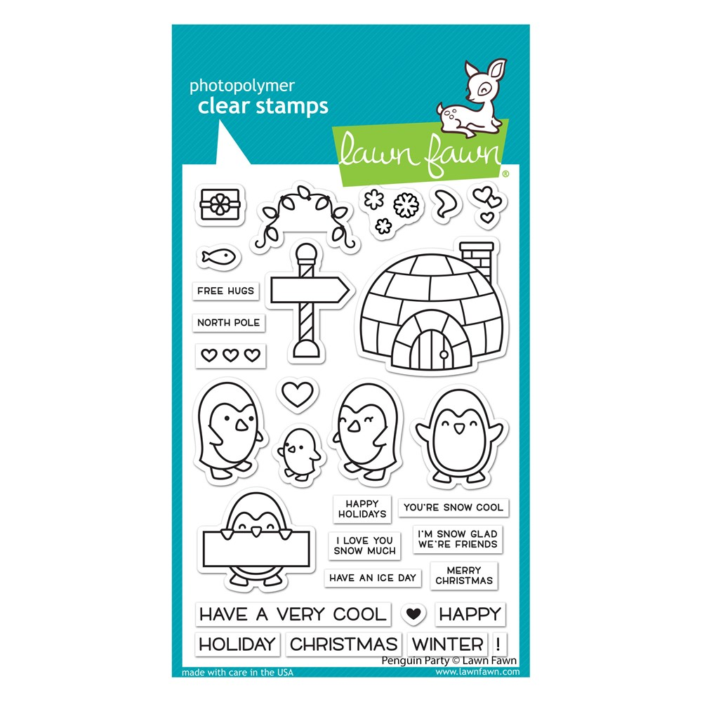 Lawn Fawn PENGUIN PARTY Clear Stamps lf2674 zoom image