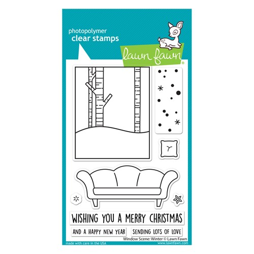 Lawn Fawn WINDOW SCENE WINTER Clear Stamps lf2672 Preview Image