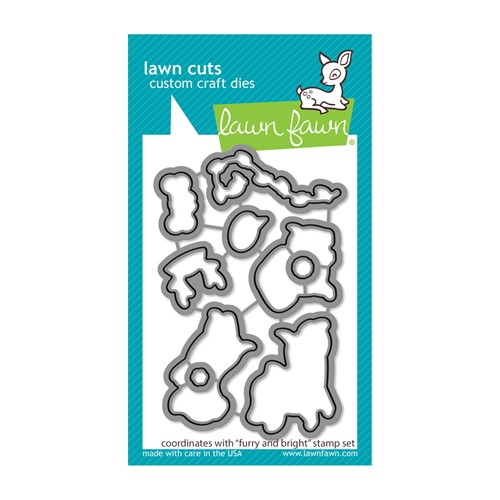 Lawn Fawn FURRY AND BRIGHT Die Cuts lf2671 Preview Image