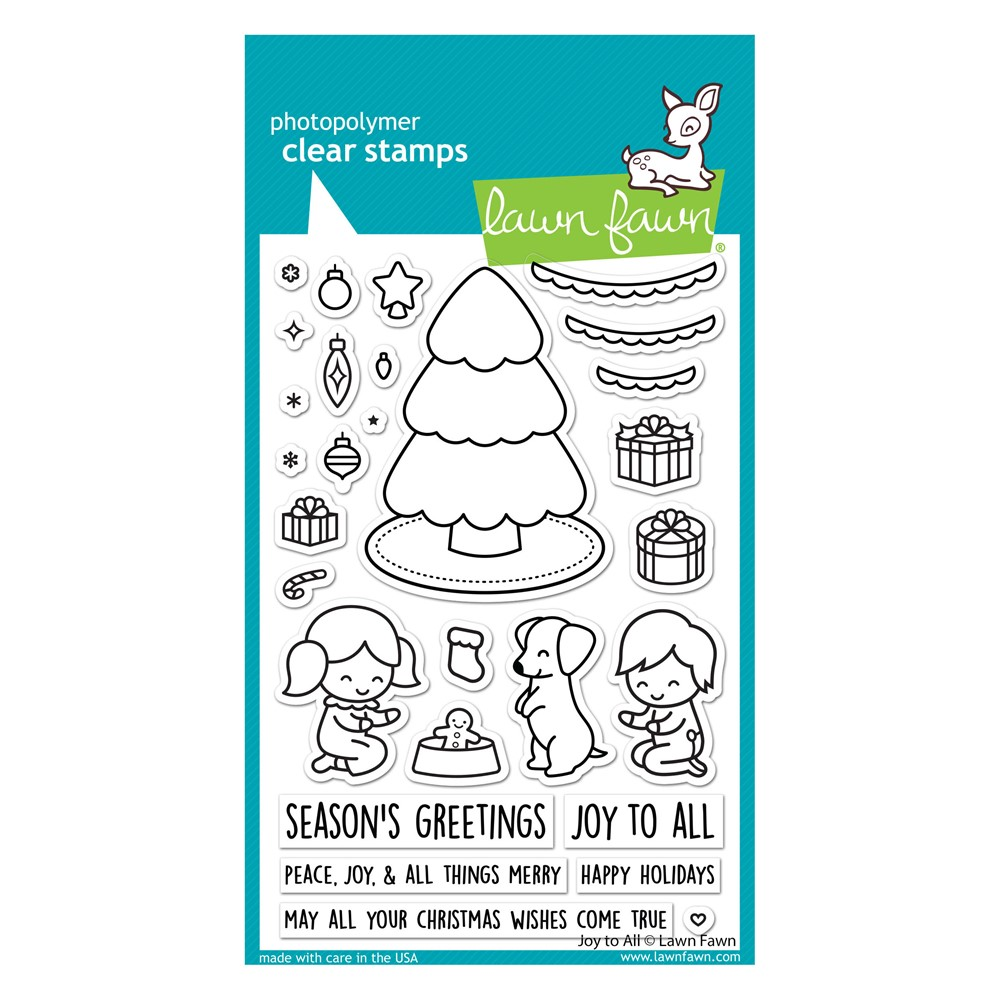 Lawn Fawn JOY TO ALL Clear Stamps lf2668 zoom image