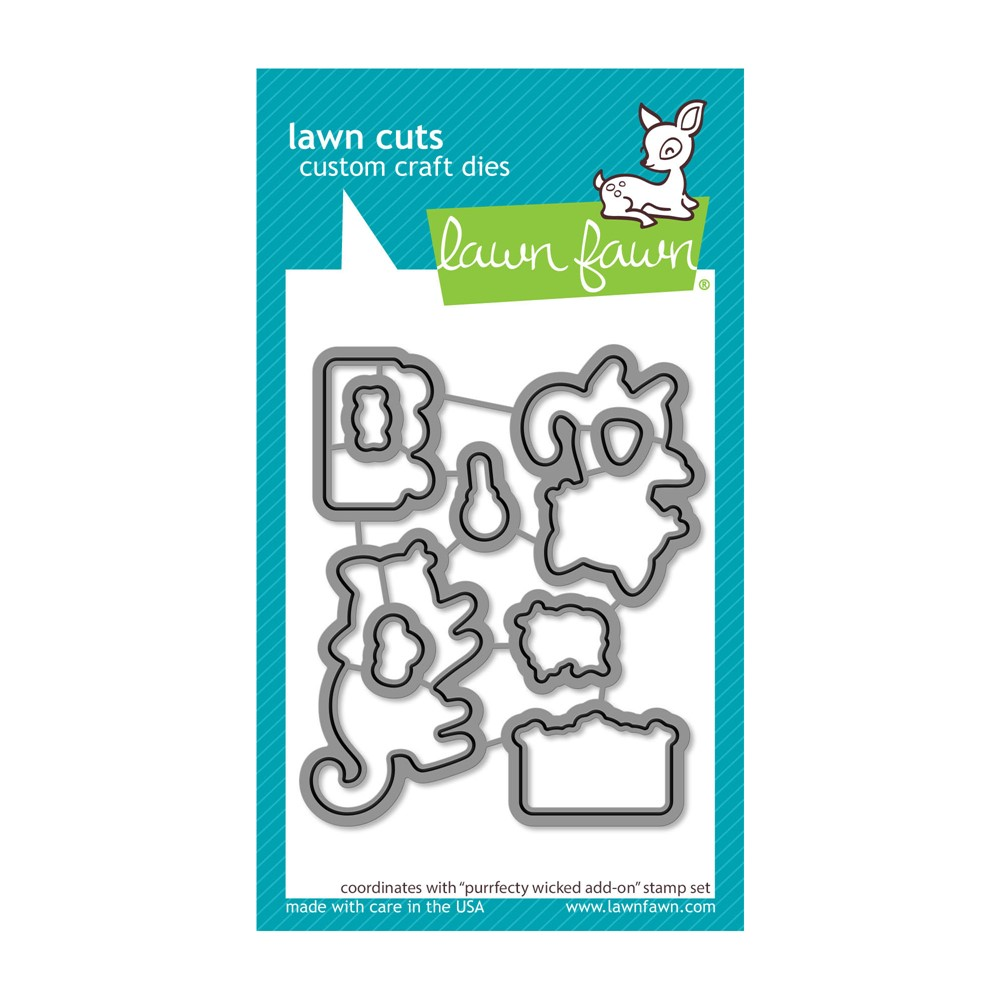 Lawn Fawn PURRFECTLY WICKED ADD-ON Die Cuts lf2667 zoom image