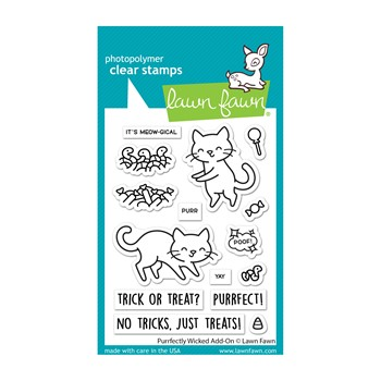 Lawn Fawn PURRFECTLY WICKED ADD-ON Clear Stamps lf2666