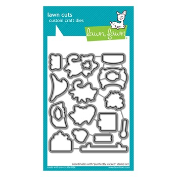 Lawn Fawn PURRFECTLY WICKED Die Cuts lf2664