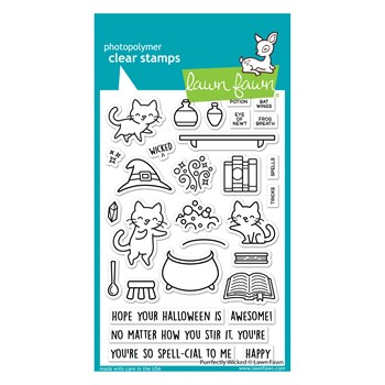 Lawn Fawn PURRFECTLY WICKED Clear Stamps lf2664