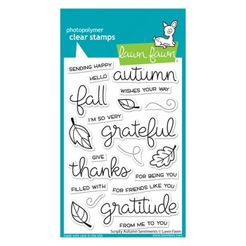 Lawn Fawn SCRIPTY AUTUMN SENTIMENTS Clear Stamps lf2662