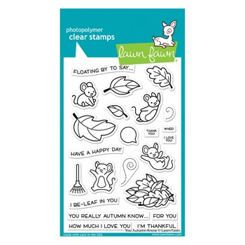 Lawn Fawn YOU AUTUMN KNOW Clear Stamps lf2660