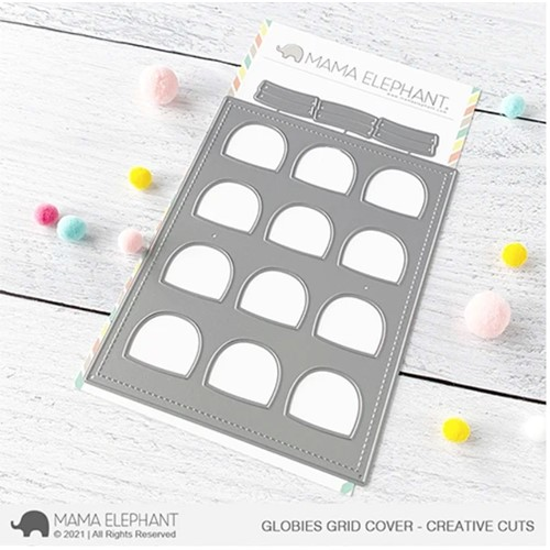 Mama Elephant GLOBIES GRID COVER Creative Cuts Steel Dies Preview Image