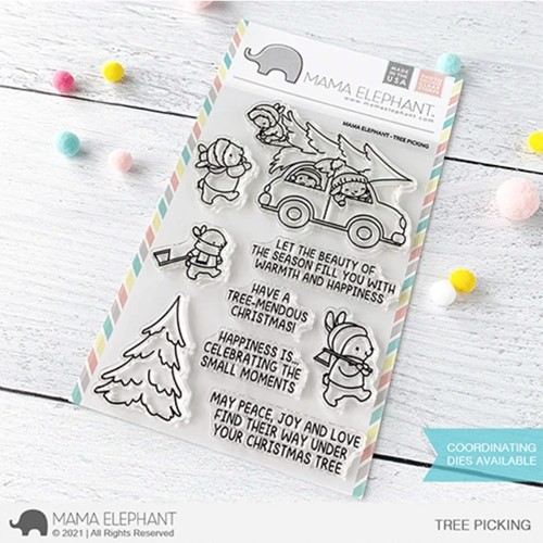 Mama Elephant Clear Stamps TREE PICKING Preview Image