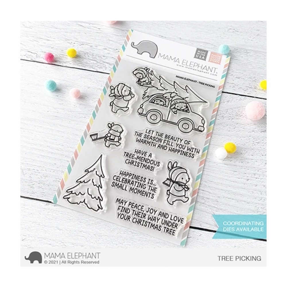 Mama Elephant Clear Stamps TREE PICKING zoom image