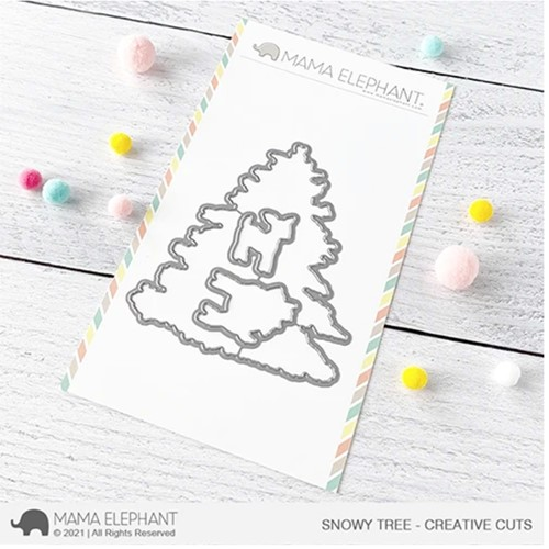 Mama Elephant SNOWY TREE Creative Cuts Steel Dies Preview Image