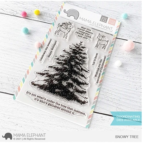 Mama Elephant Clear Stamps SNOWY TREE Preview Image